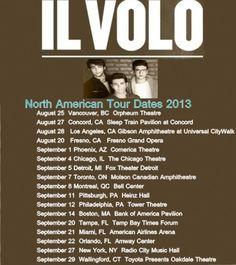 """IL VOLO 2013 North American """"We Are Love"""" Tour"""