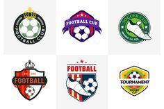 Set of vintage football soccer logos by Di Bronzino on @creativemarket