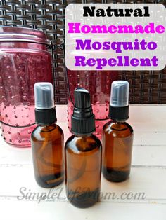 Natural Mosquito and Bug Repellant made with essential oils. a Healthy alternative to get rid of pests for outdoor play, camping BBQ, and gardens Bees And Wasps, Glass Spray Bottle, Packing Tips, Pest Control, Organic Gardening, Vegetable Gardening, Gardening Tips, Natural Health, Natural Oils