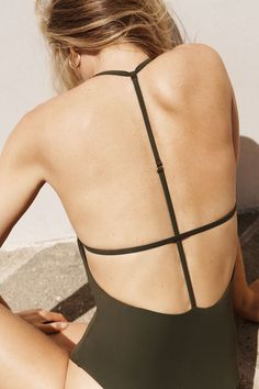 Strappy swimwear for summer.