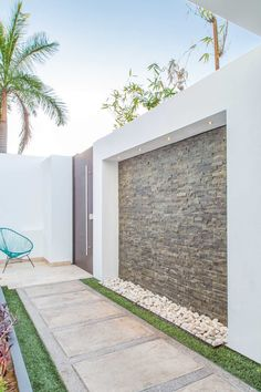 The house should be comfortable and enjoyable We will offer five ideas - Decorative wall outside house tvwalldesign logodesign # Fence Wall Design, Front Wall Design, Modern Fence Design, House Gate Design, Wall Design Outside House, Garden Entrance, House Entrance, Garden Arbor, Decoration Facade