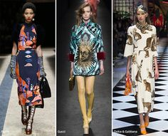 Milan Fashion Week Fall 2016 Fashion Trends: Unique Prints   #trends #fashiontrends