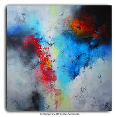 Painting . Abstract canvas . Large Abstract  ART . Original abstract painting by Alex Senchenko .  Ready to hang . 100% Hand-Made. by AlexSenchenko on Etsy