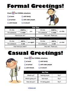 formal vs informal greetings