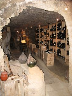 Chateauneuf du Pape wine cave.
