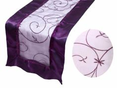 Purchase finest organza table covers, table cloths and overlays at wholesale rates from Tablecloths Factory. Create an elegant ambiance with our Embroidered Organza Table Runners. Purple Satin, Green Satin, Chair Covers, Table Covers, Wholesale Tablecloths, Banquet Tablecloths, Linen Store, Before Wedding, Runes