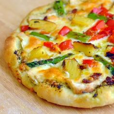Grilled Asparagus Pineapple and Chicken Pizza