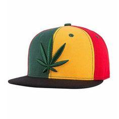 b39ebb18e8b Reggae Marijuana snapback cap for teens hip hop Embroidered baseball caps