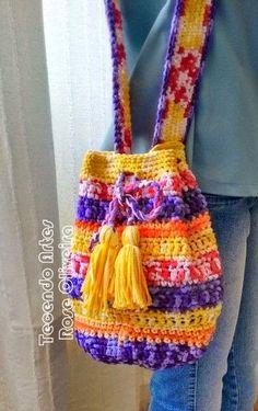 Tecendo Artes em Crochet: Bolsa com Barroco Fast da Círculo!