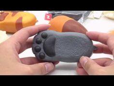 cute grey cat paw bread bun squishy charm kawaii - Food Squishies - Squishies - kawaii shop modeS4u
