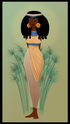 Young noblewoman by Sanio on DeviantArt Egyptian Queen, Egyptian Art, Egyptian Mythology, Egyptian Costume, Egyptian Goddess, Egyptian Jewelry, African American Art, African Art, Girls Foto