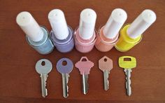 Paint your keys with nail polish to easily distinguish the sets