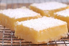 """Low Carb Lemon """"Cheesecake"""" Bars Dessert Recipe with sugar free lemon gelatin mix, lemon juice, and low fat cream cheese. Quick and easy with a 5 minute prep time. Low Carb Keto, Low Carb Recipes, Cooking Recipes, Cooking Tips, Sugar Free Desserts, Dessert Recipes, Keto Desserts, Dessert Ideas, Lemon Cheesecake Bars"""