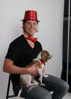Backstrom in a bow tie with a dog... I don't know how or why this picture was taken but I don't care!