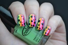 Nails by Kayla Shevonne: Pinterest Week - Rainbow Stripes & Polka Dots