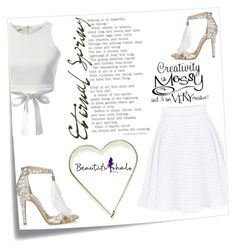 """""""Beautifulhalo"""" by ena-ena ❤ liked on Polyvore featuring Post-It, WithChic, Jimmy Choo, beautifulhalo, bhalo and bhalo2"""
