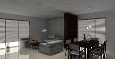 beton architektoniczny salon telewizor - Google Search