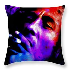 **Bob Marley** Crazy Cushion. ►►More fantastic pillows, pictures, music and videos of *Robert Nesta Marley* on: https://de.pinterest.com/ReggaeHeart/ ©Nicholas Nixo http://fineartamerica.com/products/the-bob-marley-nicholas-efthimiou-nixo-throw-pillow.html