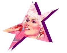 "Jem star from ""Jem And The Holograms"" series."