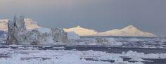 Disko Bay. - Disko Bay viewed from Ilulissat in Greenland.