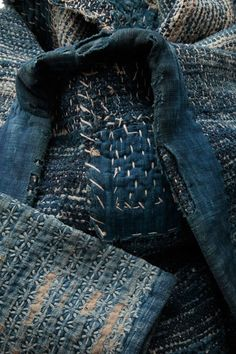 """sashiko stitching. """"Wabi Sabi nurtures all that is authentic by acknowledging three simple realities: nothing lasts, nothing is finished, and nothing is perfect."""" Richard R. Powell, Wabi Sabi Simple, 2004"""