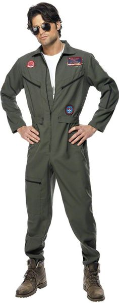 Play Tom Cruise in this fantastic Top Gun outfit, for that special 80's themed party at only £34.95 (Discount available for multiple purchases)