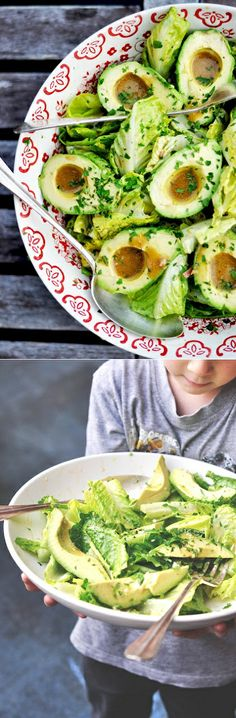 Avocado Bowls: Avocado + homemade dressing + a bit of lemon zest + tons of mint = superb summer dinner!!!