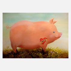 Tattooed Pig design inspiration on Fab.