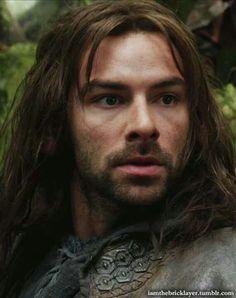 Aidan Turner as Kili in the Hobbit