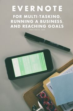Explanation of how Evernote can be used to manage a business