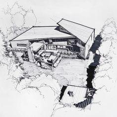 у вот, второй вариант проекта жилого дома 307 м2 #architecture #arch_more #arqsketch #sketch_arq #iarchitectures #superarchitects