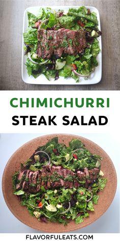 Healthy Salad Recipes, Real Food Recipes, Entree Recipes, Dinner Recipes, Steak Salad, Flank Steak, Greens Recipe, Everyday Food, Vegetarian Cooking
