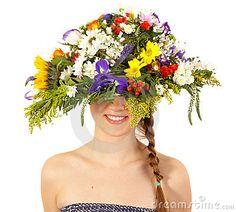 美丽的女花童帽子