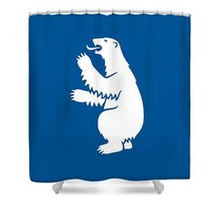 Greenland Shower Curtain featuring the mixed media Greenland Coat Of Arms by Otis Porritt