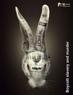 These companies use animals to test their products---literally TORTURING them, hurting them, mercilessly. They are in severe pain, feeling unimaginable fear until they finally die. Please read your labels! Stop Animal Testing, Stop Animal Cruelty, Cosmetic Animal Testing, Why Vegan, Save Animals, Animal Welfare, Vegan Lifestyle, Animal Rights, Going Vegan