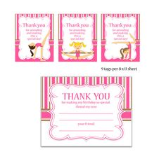 Gymnastics Party Invitation Printable  Printable by eloycedesigns, $12.00 - love it! I can pick the skin & hair colors!