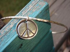 ARTisan Made PEACE Bangle  Fine Silver  Sterling by ARTandElements, $49.00
