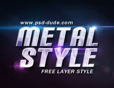 Metal Style Photoshop Free File | PSDDude Photoshop Fonts, Color Photoshop, Photoshop Text Effects, Free Photoshop, Text Games, Image Font, Typo Design, Text Style, Typography Poster