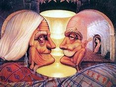 New Optical Illusion- See the illusion and find out what you see.Some people can see a young couple and some can figure out an old one