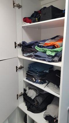 12 Caravan Storage and Organisation Ideas That Work - All Around Oz Caravan Living, Bathroom Cupboards, Organisation Ideas, Coat Hanger, Finding A House, Shoe Storage, Foot Rest, Shoe Rack, Small Spaces