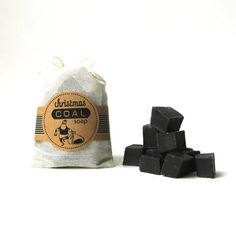 Christmas Coal Soap -  Black Unscented Vegan Soap - Lump of Coal Soap