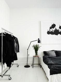 Black And White Minimalist Bedroom