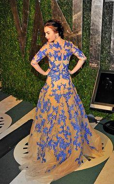 Lily Collins. Her dresses always perfect.