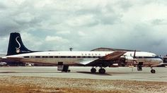 OO-SFD Douglas DC7 delivered to Sabena January 1957 and crashed on 4 March 1962 under Caledonian Airways colors (G-ARUD), in Douala on t/o into a tidall swamp and exploded on impact after gaining little height and struck trees. 111 crew & pax dead.