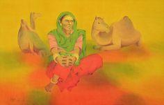 "Saatchi Online Artist Zala Bhavesh; Painting, ""In first sight-ll"" #art"
