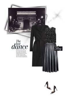 """""""Midnight  in Paris """" by sophiek82 ❤ liked on Polyvore featuring Anja, Valentino, Ted Baker, Yves Saint Laurent, Gianvito Rossi, women's clothing, women's fashion, women, female and woman"""