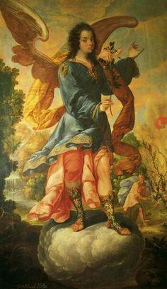 "Képtalálat a következőre: ""archangel barachiel"" Colonial Image, Colonial Art, Pintura Colonial, Tag Image, Archangel Michael, Angels In Heaven, Caravaggio, Religious Art, Black History"