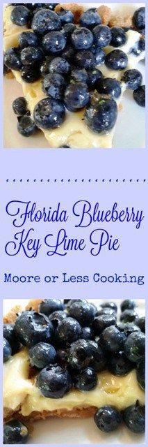 Florida Blueberry Key Lime Pie~ creamy, tangy key lime custard topped with juicy sweet blueberries inside a buttery, crunchy crust. #FreshFromFlorida, #IC, #ad