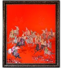 Imperial Polo - Large Oil on Canvas. Framed. Visit our online showroom for this and other items