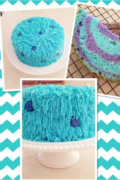 Monsters Inc. Sulley cake I made for Gabis birthday!